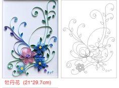 12 pièces / Set Patterns bricolage nécessaires Paper Quilling Quilling modèle, la livraison gratuite.