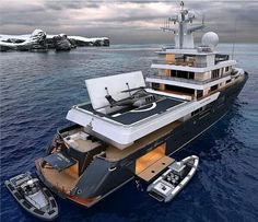 PLANET NINE is a luxury expedition mega yacht available for charter built in Charter up to 12 guests in 9 cabins Master, 1 VIP & 1 Convertable) with a crew of Yacht Design, Boat Design, Private Yacht, Private Jet, Cool Boats, Small Boats, Yacht Luxury, Luxury Boats, Ski Nautique