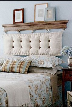 The bed defines the bedroom and the headboard defines the bed. So if you& looking for unusual headboard ideas for your room you've reached the right place White Wall Bedroom, Home Bedroom, Bedroom Furniture, Bedroom Decor, Design Bedroom, Bedroom Ideas, Furniture Design, Cheap Diy Headboard, Headboards For Beds