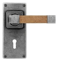 Finesse FD171 EDEN-OAK-Pewter Lever Lock Handles on JESMOND Plate