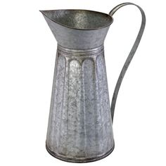 Large Tabletop Galvanized Metal Pitcher By Ashland™