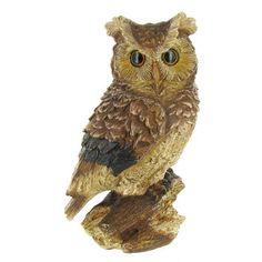 Owl Sitting on Stump Statue