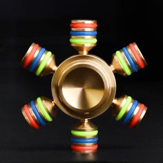 Fidget Spinner Rainbow Multicolor Metal Finger Stress Spiner Toys Rotate about 3-5 Minutes