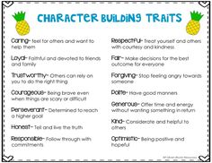 Are you looking for ways to build character in the classroom? Incorporating character education will provide a sense of community and teach core values. Character Traits For Kids, Teaching Character Traits, Character Activities, Character Education, How To Build Character, Character Development, Therapy Activities, Physical Education, Classroom Behavior