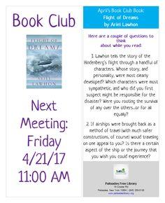 Esplanade Book Club - Friday, April 21, 2017