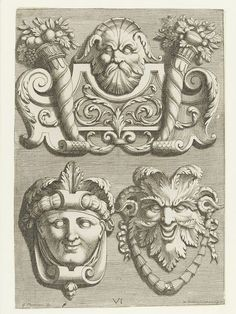 Diuerses Ornemens & Masque | Georges Charmeton | V&A Search the Collections