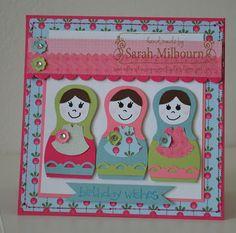 Babushka card  Jessica Kassman's Punch Art Babushkas  See my blog for details