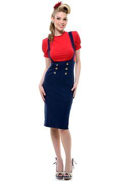 retro Pin up 50s Clothing, Pencil Skirt, Rockabilly Clothing ...