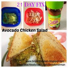 Avocado Chicken Salad (21 DAY FIX) approved