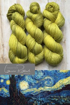 VAN GOGH by Louise Robert Design Knitting Yarn, Knitting Patterns, Colour Trends, Color Pallets, Van Gogh, Artisan, Wool, Games, Spring