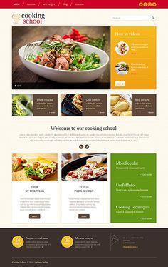 Template 49228 - Cooking School WordPress Theme