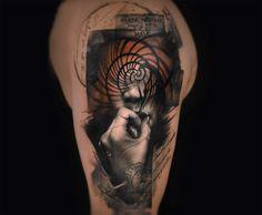 Tatuagens surrealistas de dupla exposição 1