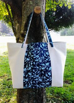 """Large Canvas Tote 