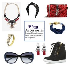 """Edgy Accessories"" by horse-dance-princess on Polyvore featuring Roberto Cavalli, Berry, Yves Saint Laurent, Bling Jewelry, Oscar de la Renta, West Coast Jewelry and Noemi B."