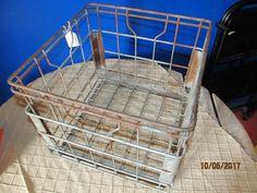 Vintage Westland Dairy 1975 Steel Wire Metal Milk Bottle Crate Primitive Kitchen Decor by EvenTheKitchenSinkOH on Etsy
