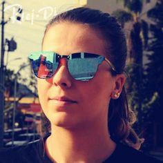 #FASHION #NEW 2017 Fashion Unisex Sunglasses Women Vintage Aviation Sunglasses Men Travel Driving Goggles Rivet Mirrored Eyewear Male UV400
