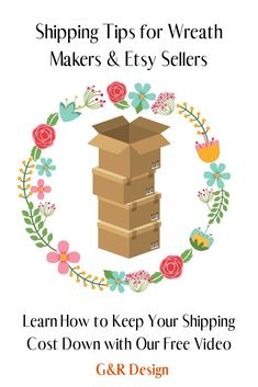 Do you struggle with the cost of shipping your products for your creative business? Well if so, let Jim show you a few tips we have learned the hard way with this free video! Tobacco Basket Decor, Diy Wreath, Wreath Bows, Year Round Wreath, Creative Business, Business Ideas, Basket Decoration, Fall Wreaths, Floral Arrangements