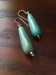 Green opal drop earrings Green Opal, Drop Earrings, Jewelry, Jewlery, Jewerly, Schmuck, Drop Earring, Jewels, Jewelery