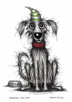 Horrible the dog Print download Grumpy badly behaved by KeithMills