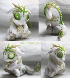 White And Green Baby Dragon With Ball by BittyBiteyOnes.deviantart.com on @deviantART