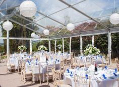 Yes they are also available in Devon, Dorset, Cornwall & Somerset via the Transparent Marquee Company. Why not ask Brian for a quote today????? Tables and chairs by www.southwesteventhire.co.uk