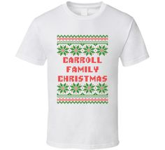Unisex Carroll Family Christmas Ugly Sweater T-Shirt
