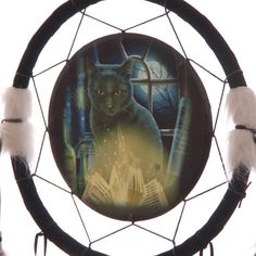 Decorative Magical Bewitched Cat Design 34cm Dreamcatcher Dreamcatchers are a great way to add colour and design to your home or workplace Made from
