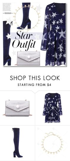 """""""Twinkle, Twinkle: Star Outfits"""" by paculi ❤ liked on Polyvore featuring Miss Selfridge, Blue, Silver, dress, plussize and StarOutfits"""