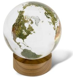 Crystal World Globe