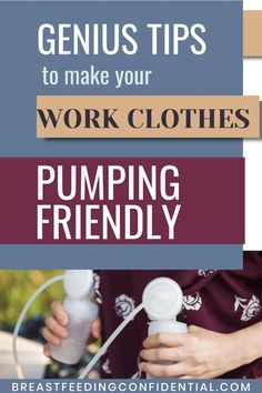 Breastfeeding moms returning to work don't need a new wardrobe. Tips on clothes that are pumping friendly and those to avoid at all cost. Breastfeeding Problems, Breastfeeding Clothes, Breastfeeding Support, Diy Nursing Clothes, Pumping At Work, Exclusively Pumping, Lactation Consultant, Survival Tips, New Moms