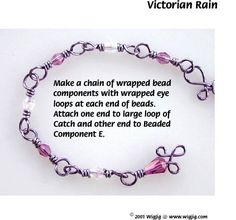 Vistorian Raing Wire and Beads Necklace Jewelry Making Project made with WigJig jewelry making tools and jewelry supplies.