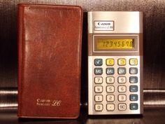 Calculatrice-calculator-CANON-PALMTRONIC-LC-8M-Japan-vintage