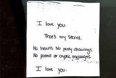 "My ""secret""..."