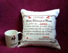 8ebc06f9d9 Kit personalizado almofada certificado de melhor namorada do mundo e caneca  do Atlético Mineiro Lk Presentes