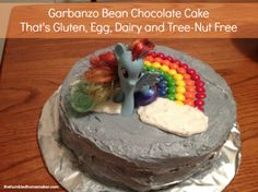 garbanzo bean chocolate cake that's gluten, egg, dairy and tree-nut free