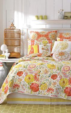 love this sunny #orange bedding http://rstyle.me/n/iz8bvr9te