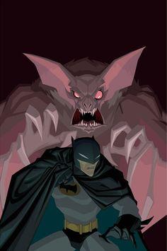 Batman vs Manbat by Jeff Matsuda