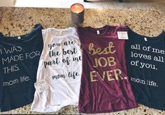 Always a joy to see customers receive mail day from Ezra + Eli. We have all of our tees available with off using the code: Momma Shirts, Mom Of Boys Shirt, Cute Shirts, Mein Style, Mommy Style, Vinyl Shirts, Diy Shirt, Shirts With Sayings, Mommy And Me