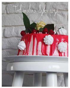 Birthday cake by Small Home Bakery Renya's 19th Birthday http://smallhomebakery.blogspot.com/2016/06/tort-malina-dzika-roza.html Garden Party  | CatchMyParty.com