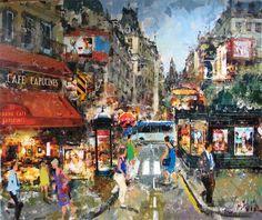 "Costa Vila (Spain, born 1953)  ""Cafe Capucines Paris"""