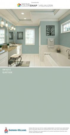 master bedroom paint colors Outside of house Bedroom Ideas For Teen Girls, Spare Bedroom Paint Ideas, Girls Bedroom, Blue Bathrooms Designs, Casa Disney, Small Bathroom Colors, Colors For Bathroom Walls, Paint Colors For Home, Outside House Paint Colors