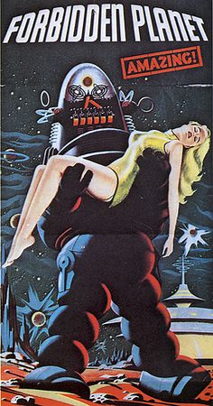 """[""""Anne Francis stars in Forbidden Planet"""" with Robbie the Robot!  Robots steal women!! by Jello Kitty, via Flickr"""
