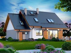 Zdjęcie projektu Alandra WOK1101 Solar Panels, Cabin, Mansions, Architecture, House Styles, Outdoor Decor, Home Decor, Sun Panels, Arquitetura