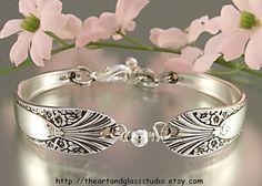 Silver Spoon Bracelet RADIENCE Jewelry by theartandglassstudio
