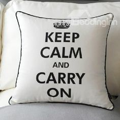 New Arrival Modern Style Letters Patterns White Color Throw Pillow  @bedding inn