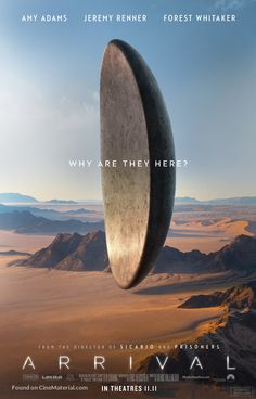 Arrival from Denis Villeneuve with Amy Adams as Louise Banks Arrival Film, Arrival Poster, The Arrival, Great Movies, New Movies, Movies And Tv Shows, Movies Online, 2016 Movies, Blockbuster Movies