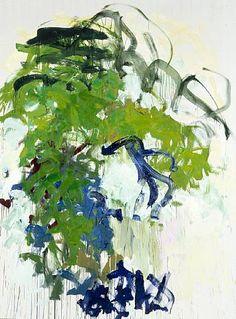 """peinture abstraite US : Joan Mitchell, 1987, """"After April, Bernie"""", femmes artistes, vert, 1980s"""