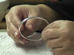 How to Make a Hammered Bangle Bracelet