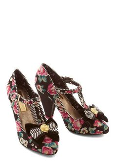 Buy New 1930s Style Shoes for Women  - Rose Garden Party Heel $89.99 #1930sfashion #shoes