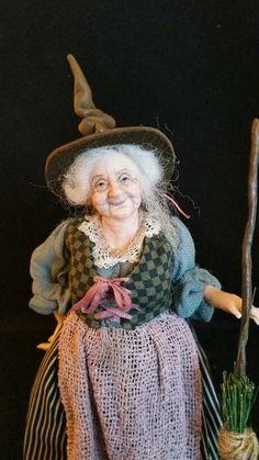 Miniature witch www.juliecampbelldollartist.co.uk